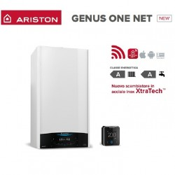 Caldaia a condensazione Ariston GENUS ONE NET 24 completa di kit fumi e wi-fi ready