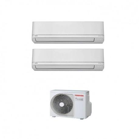 CLIMATIZZATORE CONDIZIONATORE DUAL INVERTER 10+10 TOSHIBA SHORAI DA 10000+10000 BTU RAS-B10PKVSG-E GAS R32