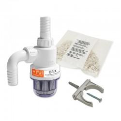 BRIX Neutralizzatore di condensa acida completo di kit di connessione e una confezione di carbonato di calcio.