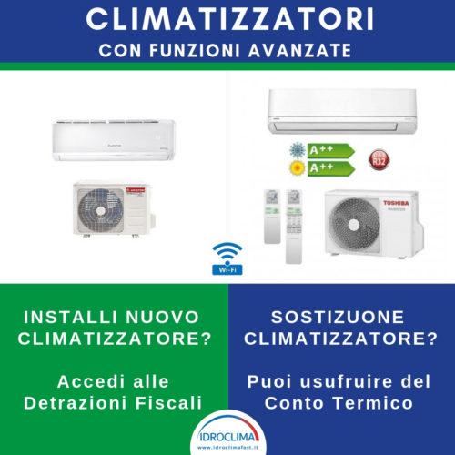 Climatizzatori e condizionatori con funzioni avanzate