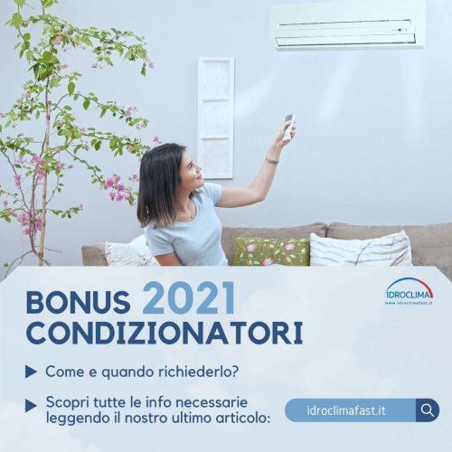 Bonus Climatizzatori 2021 - IdroClima